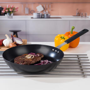 George Wilkinson Pan For Life Pretreated Frying Pan, 28 cm, Black Steel Thumbnail 2