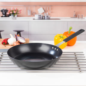 George Wilkinson Pan For Life Pretreated Frying Pan, 28 cm, Black Steel Thumbnail 4