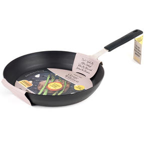 George Wilkinson Pan For Life Pretreated Frying Pan, 28 cm, Black Steel Thumbnail 7