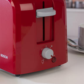 Bosch TAT3A014GB Village Two-Slice Toaster, Red Thumbnail 6