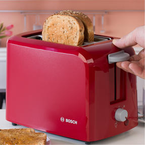 Bosch TAT3A014GB Village Two-Slice Toaster, Red Thumbnail 9