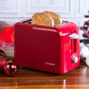 Bosch TAT3A014GB Village Two-Slice Toaster, Red Thumbnail 10