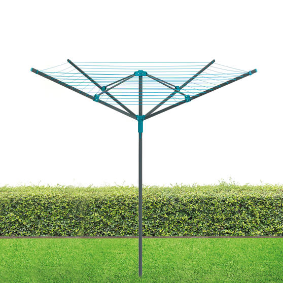 Beldray Rotary Outdoor Clothes Airer with Pegs, Weather Proof Cover and Ground Socket, 45 m Drying Space, Holds up to 20 KG Thumbnail 2