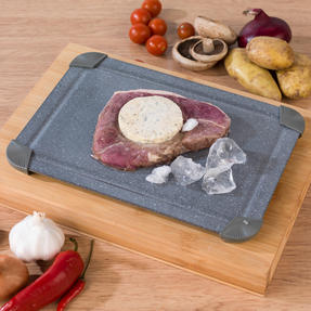 Salter Marble Collection Non-Stick 28 cm Griddle Pan with Defrosting Tray, Grey Thumbnail 7