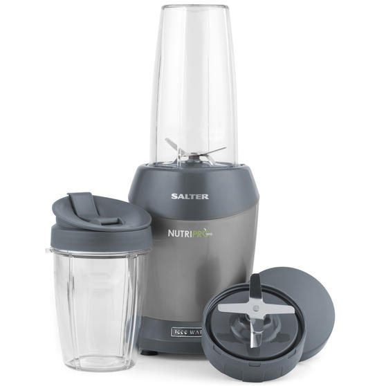 Salter EK2002V4SILVER NutriPro 1000 Multi-Purpose Blender with Blending Cups and Lids, 1 Litre, 1000 W