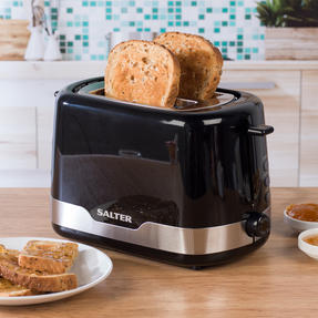 Salter EK3467BLK Deco 2-Slice Toaster with Warming Rack, 850 W, Black Thumbnail 7