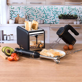 Salter COMBO-4142 2-Slice 850 W Toaster, Hand Blender and Hand Mixer, Rose Gold Edition Thumbnail 2