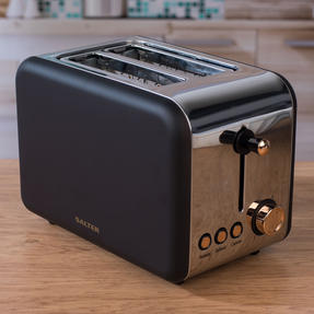 Salter COMBO-4142 2-Slice 850 W Toaster, Hand Blender and Hand Mixer, Rose Gold Edition Thumbnail 4