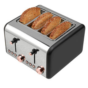 Salter COMBO-4143 4-Slice 1500 W Toaster, Hand Blender and Hand Mixer, Rose Gold Edition Thumbnail 9