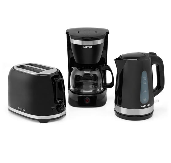 Salter COMBO-3134 Deco 2-Slice 850 W Toaster, 3 KW Kettle and 800 W Coffee Maker