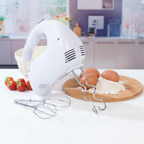 Progress COMBO-3656 Hand Blender and Five-Speed Hand Mixer Set, 350/200 W, White/Grey Thumbnail 7