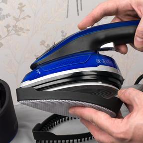 Beldray BEL0916 Duo Steam Pro 2-In-1 Handheld Garment Steamer, 150 ml, 1200 W, Black/Blue Thumbnail 3