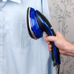 Beldray BEL0916 Duo Steam Pro 2-In-1 Handheld Garment Steamer, 150 ml, 1200 W, Black/Blue Thumbnail 6
