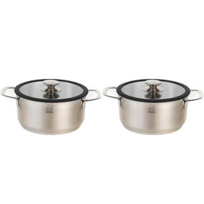 Peugeot COMBO-4739 Stainless Steel Cooking Pots with Lids, 24 cm, Set of 2 Thumbnail 1