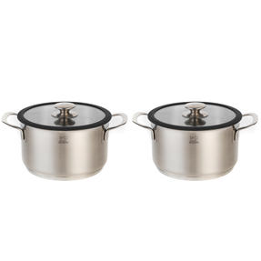 Peugeot COMBO-4743 Stainless Steel Cooking Pots with Lids, 20 cm, Set of 2 Thumbnail 1