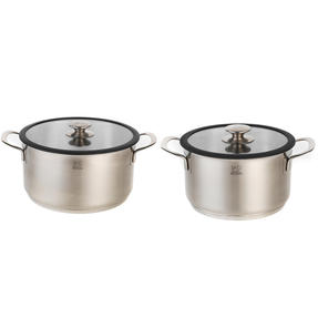 Peugeot COMBO-4735 Stainless Steel Casserole Pot and Cooking Pot Set, 2 Piece, 20 cm