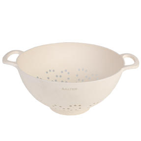 Salter BW07822 Earth Lightweight Bamboo Fibre Vegetable Pasta Rice Straining Colander, Natural
