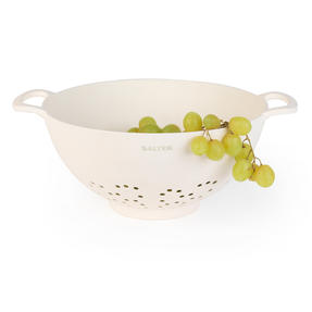 Salter BW07822 Earth Lightweight Vegetable Pasta Rice Straining Colander, Natural Thumbnail 2