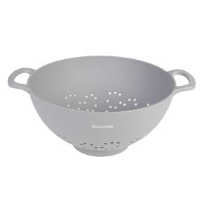Salter BW07822G Earth Lightweight Vegetable Pasta Rice Straining Colander, Grey