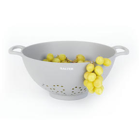 Salter BW07822G Earth Lightweight Vegetable Pasta Rice Straining Colander, Grey Thumbnail 2