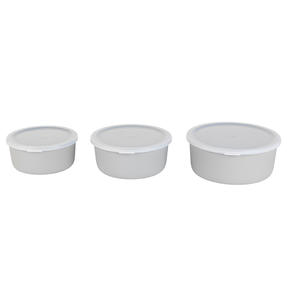 Earth 3-Piece Lightweight Bamboo Fibre Kitchen Container Set, 18/16/14 cm, Grey Thumbnail 5