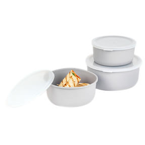 Earth 3-Piece Lightweight Bamboo Fibre Kitchen Container Set, 18/16/14 cm, Grey Thumbnail 6