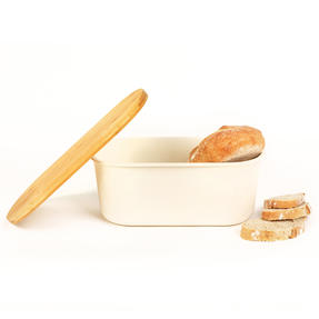 Earth Lightweight Bamboo Fibre Bread Bin, Natural Thumbnail 4