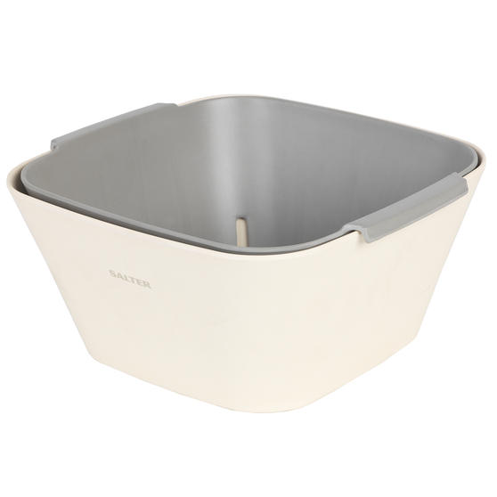 Salter BW08170 Earth Two-Piece Lightweight Square Colander and Bowl Set | Ideal for Straining and Serving