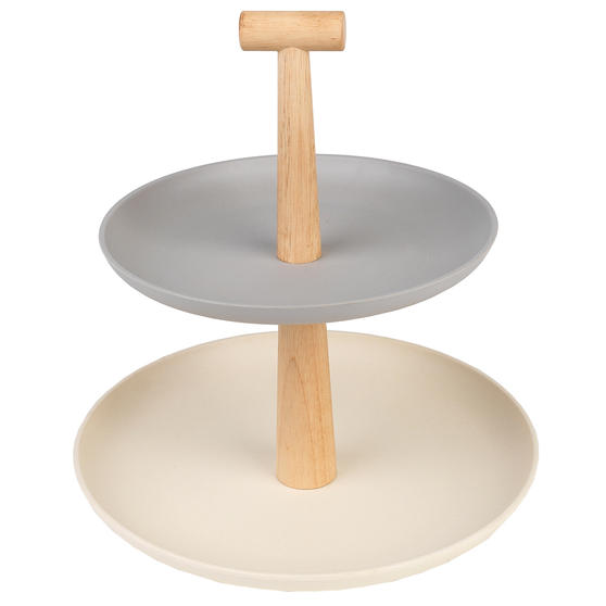 Salter BW08185 Earth Lightweight 2-Tier Round Cake and Cupcake Stand | Ideal for Parties, Baby Showers and More