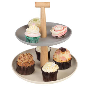Salter BW08185 Earth Lightweight 2-Tier Round Cake and Cupcake Stand | Ideal for Parties, Baby Showers and More Thumbnail 3