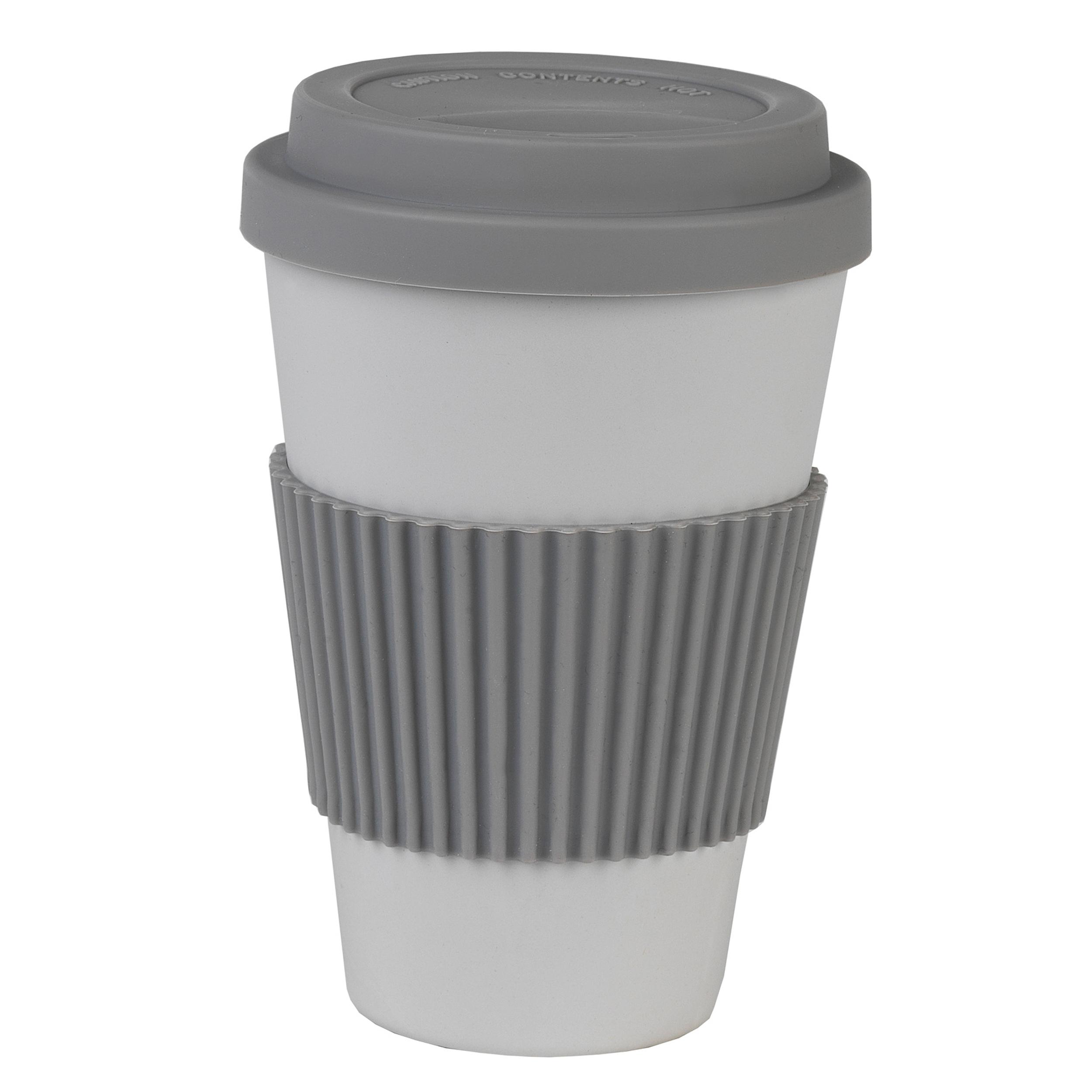 Salter BW08396G Earth 16 oz Lightweight Reusable Coffee Cup Travel Mug, Grey   Alternative to Single Use Plastic Cups