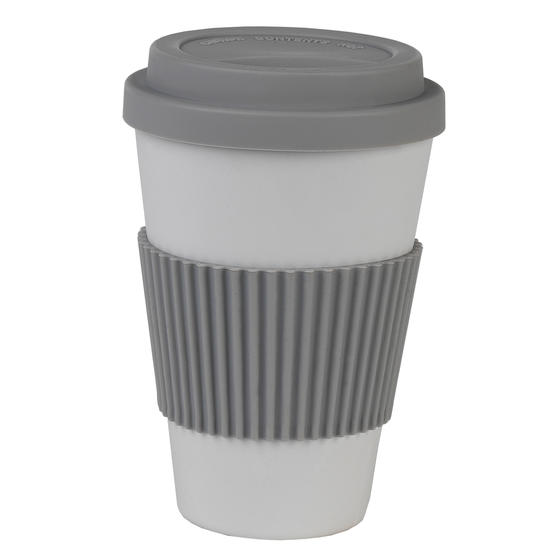 Earth 16 oz Lightweight Bamboo Fibre Sippy Mug, Grey