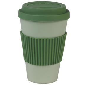 Earth 16 oz Lightweight Bamboo Fibre Sippy Mug, Green Thumbnail 1