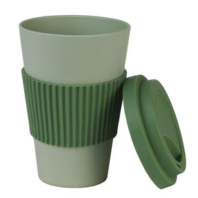 Earth 16 oz Lightweight Bamboo Fibre Sippy Mug, Green Thumbnail 3