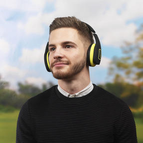 Intempo EE1178SBLKYELSTKEU Active Wireless Bluetooth Foldable Headphones, Black/Yellow Thumbnail 6