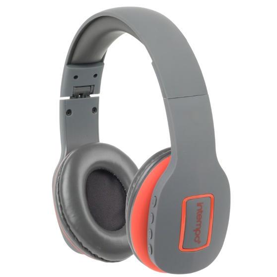 Intempo EE1178SGRYCORSTKEU Active Wireless Bluetooth Foldable Headphones, Grey/Coral