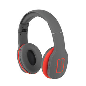 Intempo EE1178SGRYCORSTKEU Active Wireless Bluetooth Foldable Headphones, Grey/Coral Thumbnail 2