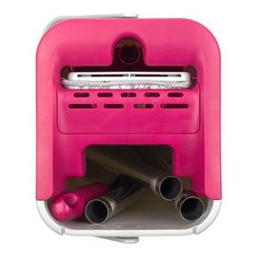 Kleeneze KL062253EU Flat Head Mop and Bucket Set, Pink/Grey Thumbnail 3