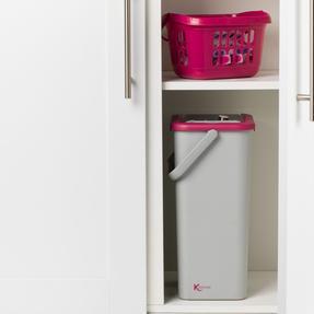 Kleeneze KL062253EU Flat Head Mop and Bucket Set, Pink/Grey Thumbnail 4