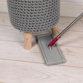 Kleeneze KL062253EU Flat Head Mop and Bucket Set, Pink/Grey Thumbnail 12