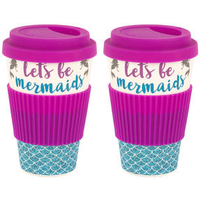 Cambridge COMBO-4793 Lets Be Mermaids Eco Travel Mugs, Set of 2 Thumbnail 1