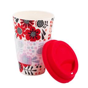 Cambridge COMBO-4794 Polka Dot Garden Reusable Travel Mugs, Set of 2 | Alternative to Single Use Plastic Cups Thumbnail 2