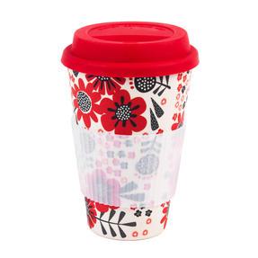 Cambridge COMBO-4794 Polka Dot Garden Reusable Travel Mugs, Set of 2 | Alternative to Single Use Plastic Cups Thumbnail 3