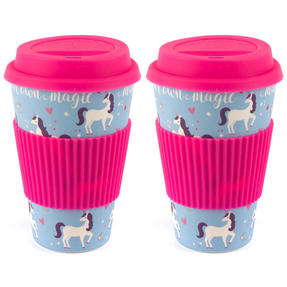 Cambridge COMBO-4795 Magic Unicorn Eco Travel Mugs, Set of 2 Thumbnail 1