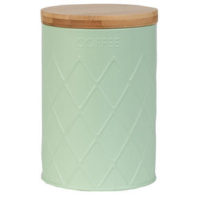 Salter Embossed Round Canister for Coffee, Mint Green Thumbnail 1