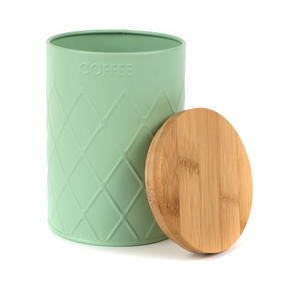 Salter Embossed Round Canister for Coffee, Mint Green Thumbnail 2