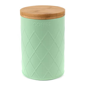 Salter Embossed Round Canister for Coffee, Mint Green Thumbnail 4