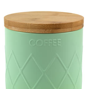 Salter Embossed Round Canister for Coffee, Mint Green Thumbnail 5