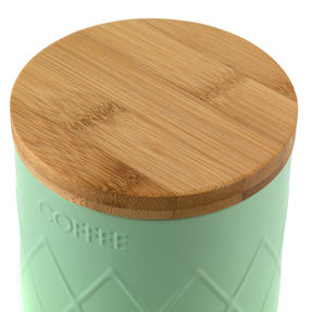 Salter Embossed Round Canister for Coffee, Mint Green Thumbnail 6