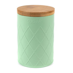 Salter Embossed Round Canister for Sugar, Mint Green Thumbnail 4